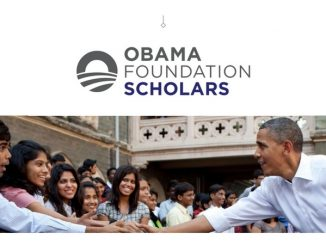 The Obama Foundation Scholars Program is accepting applications for the 2021-2022 program until February 5, 2021 at 5:00 PM ET. Apply Now